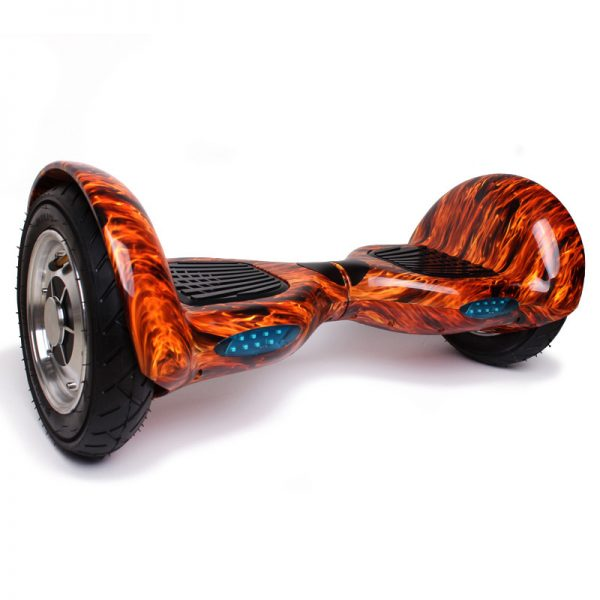 hoverboard flame 10 inch HoverBoard Off Road Flame 10 inch cu Bluetooth, Telecomanda HoverBoard Portocaliu 10 inch cu Bluetooth Telecomanda 600x600