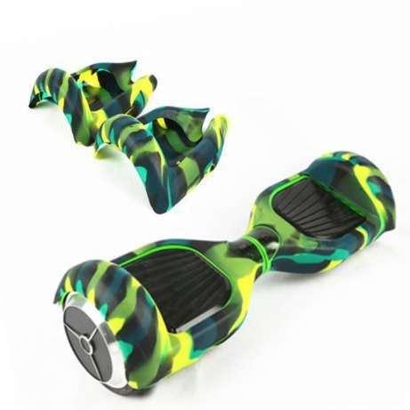 Husa silicon hoverboard 6.5 inch culoare verde cu alb husa 1