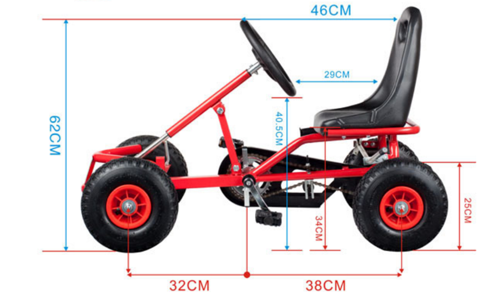 kart go kart f 120 cu pedale pentru copii cu varsta intre. Black Bedroom Furniture Sets. Home Design Ideas